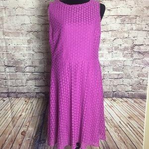 London Times purple lace dress